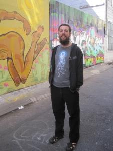 Luke in Clarion Alley