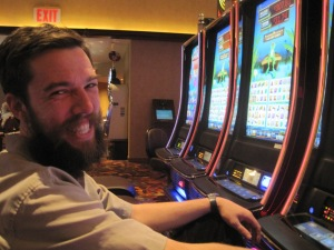 Luke in the casino, Atlantic City