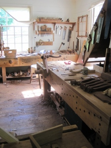 The cabinetmaker, Williamsburg (aka wood shop paradise)